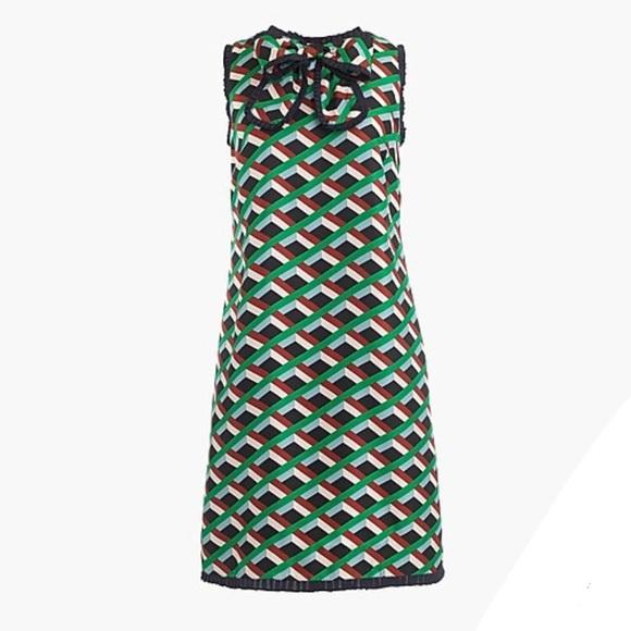 J. Crew Dresses & Skirts - NWT J. Crew Silk dress in Ratti graphic diamond